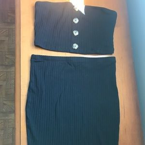 Two piece ribbed set